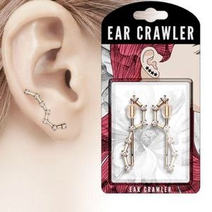 CZ Set Big Dipper Ear Crawler Ear Climber Earrings